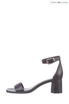 Tommy Hilfiger Black Essential Mid Heel Sandals