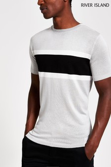 River Island Grey Clean T-Shirt
