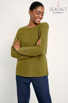 Seasalt Green Fern Moss Fruity Jumper