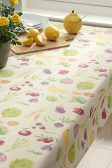 Linen Blend Wipe Clean Table Cloth