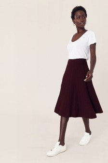 Oasis Purple Petra Midi Skirt