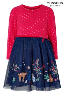 Monsoon Children Pink Baby Tessa Disco Dress