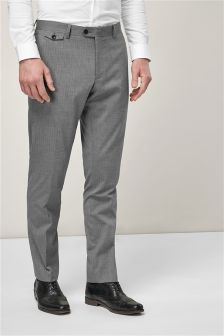 Striped Slim Fit Suit: Trousers