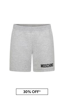 Moschino Kids Baby Grey Cotton Shorts