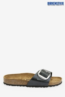 Birkenstock® Black Big Buckle Madrid Sandals