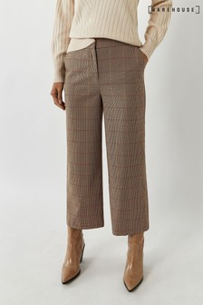 Warehouse Black Check Culottes