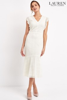 Lauren Ralph Lauren® White Celia Lace Dress