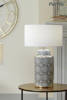 Kari Circle Pattern Ceramic Table Lamp by Pacific Lighting