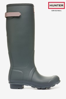 Hunter Grey Original Tall Adjustable Wellies