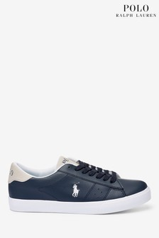 Ralph Lauren Navy Theron Trainers