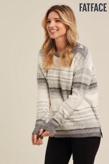 FatFace Natural Millie Stripe Jumper