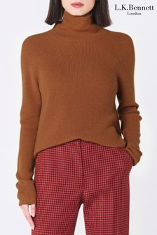 L.K. Bennett Brown Lulumay Wool Sweater
