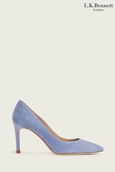 L.K.Bennett x Royal Ascot Blue Floret Single Sole Point Sandals