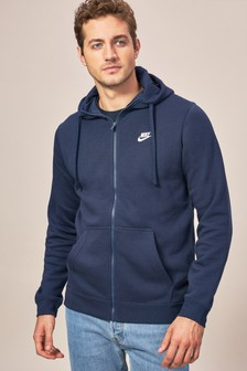 Nike Grey Club Zip Through Hoody