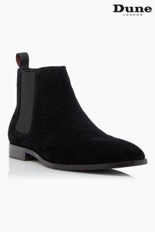Dune London Mantle Black Suede Chelsea Boots
