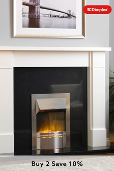 Dimplex 2kW Dakota stainless steel  Electric Optiflame Inset Fire