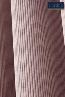Zasłony sztruksowe z oczkami na karnisz Curtina