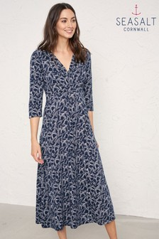 Seasalt Blue Chacewater String Silhouette Midnight Dress