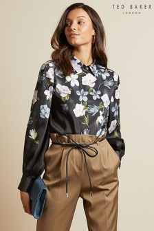 Ted Baker Black Button Blouse
