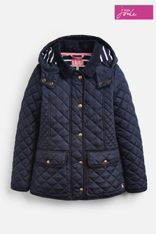 Joules Navy Newdale Quilted Coat