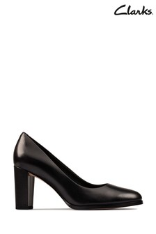 Clarks Black Leather Kaylin Cara 2 Shoes