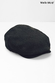 White Stuff Grey Wool Blend Flat Cap
