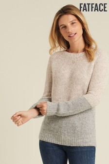 FatFace Grey Primrose Colourblock Jumper