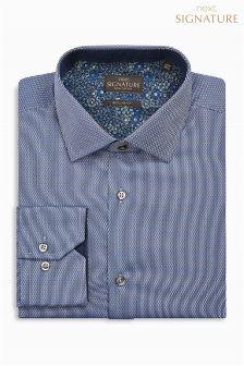 Signature Textured Regular Fit Shirt
