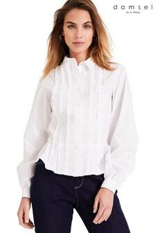 Damsel In A Dress White Nala Ruffle Shirt