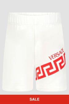 Versace Baby Boys White Cotton Jersey Shorts