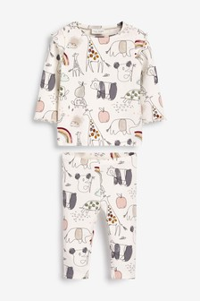 Floral Co-Ord Top/Leggings Set (0mths-2yrs)