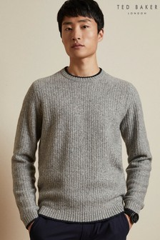 Ted Baker Grey Eastey Crew Neck Jumper