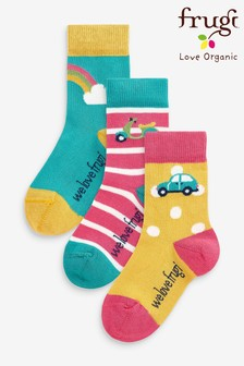 Frugi Super Soft Rainbow Socks Three Pack