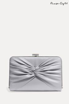 Phase Eight Silver Kendal Clutch Bag