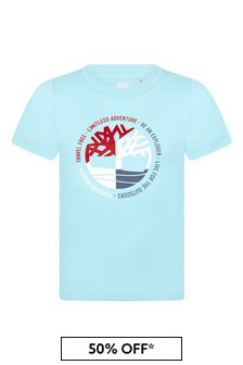 Timberland Blue Cotton T-Shirt