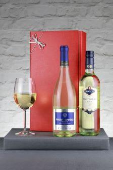 Set of 2 Le Bon Vin Italian Pinot Grigio Wine Gift