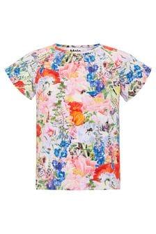 Molo Girls Multicoloured Cotton T-Shirt