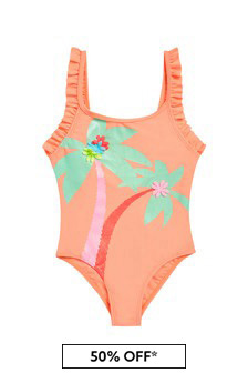 Billie Blush Girls Peach Swimsuit
