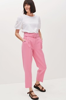 Belted Straight Trousers