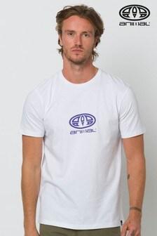 Animal White Stacked Graphic T-Shirt