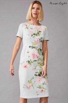 שמלה פרחונית צמודה מדגם Shanea של Phase Eight בצבע ירוק