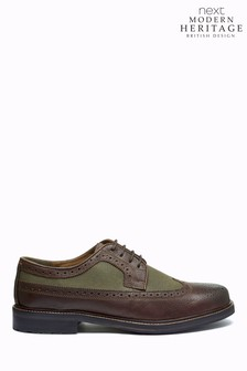 Modern Heritage British Millerain Leather Brogue Shoes