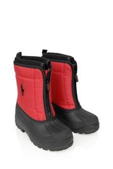 Ralph Lauren Kids Boys Red & Black Snow Boots