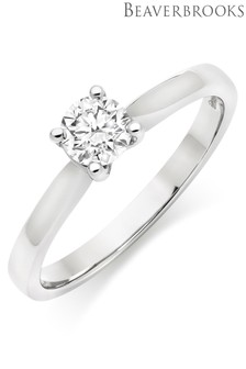 Beaverbrooks Platinum Diamond Solitaire Ring