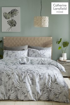 Montego Leaf Duvet Cover and Pillowcase Set by Catherine Lansfield