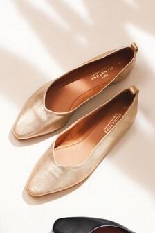 Signature Forever Comfort® Leather Ballerinas