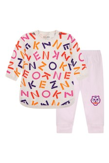 Baby Girls Cotton Jumper And Leggings Set