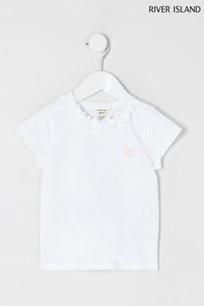 River Island Frill Neck T-Shirt