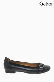 Gabor Black Michelle Leather/Suede Shoes