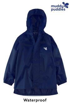 Muddy Puddles Navy Originals Waterproof Hooded Jacket